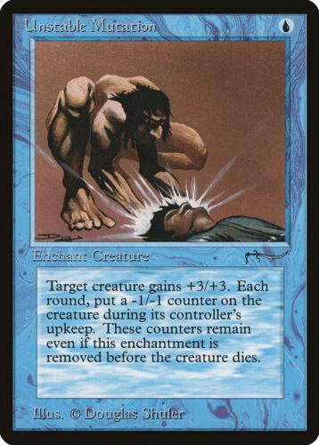 Unstable Mutation Arabian Nights NM Blue Common MAGIC GATHERING CARD ABUGames