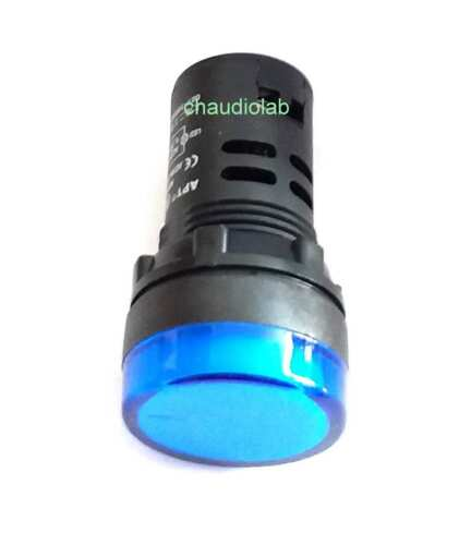 New HQ Pilot Indicator Light 30mm BLUE Bulb 12VAC//DC