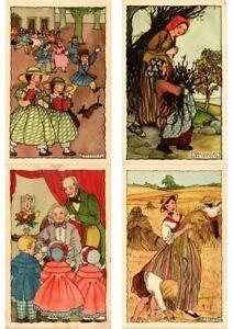 RIE-CRAMER-ARTIST-SIGNED-Mostly-CHILDREN-COLLECTION-OF-200-Vintage-Postcards