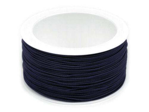 goma cordel 1,2mm 0,26 euros//m 50 metros cinta alrededor de goma hutschnur gummilitze