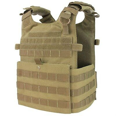 Condor 201039 Tan MOLLE Tactical Gunner Lightweight ESAPI Plate Carrier Vest