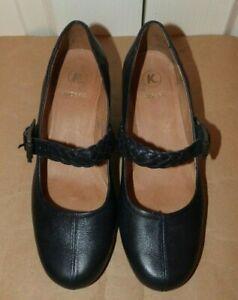 Ladies Dark Navy Leather Mary Jane K