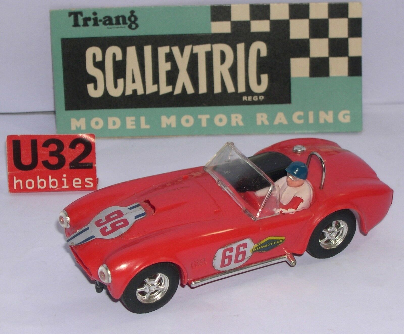 FN SCALEXTRIC C78 AC COBRA  66 ROT MADE IN HONG KONG EXCEL. ZUSTAND UNBOXED