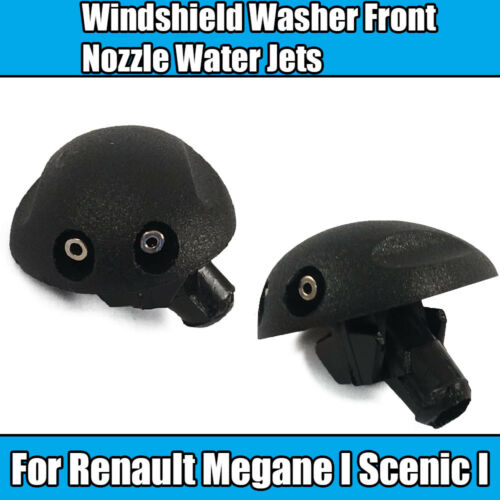 2x Windshield Washer For Renault Megane I Scenic I Front Nozzle Water Jets