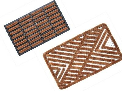 Natural Coir Door Mat Heavy Duty Indoor & Outdoor Rubber Backed Entrance