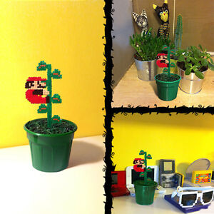 Super mario climbing beanstalk 8 bit plant pixel for 8 bit decoration