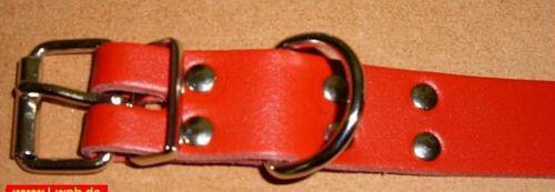 4 Lederriemen 35  x  2,5 cm ROT mit D-Ring  Befestigungsriemen Fixierungsriemen