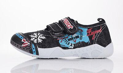 Chicos Zapatos de lona sujetadores de gancho y bucle Tenis De Entrenamiento Talla 7,5 - 11,5