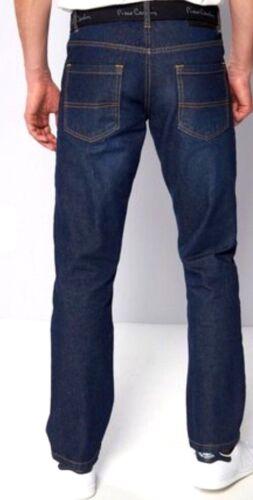 New Mens Pierre Cardin Web Belt Jeans Vintage Dark Size 30S 32S 30R 32R