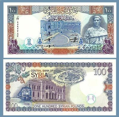 P-108 UNC SYRIA 100 POUNDS 1998
