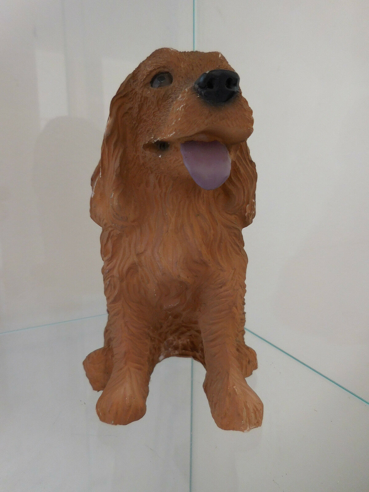 Dog figurine resin curiosity by pn