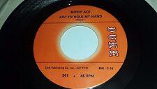 "BUDDY ACE Inside Story / Just To Hold My Hand Duke 391 SOUL 45 7"""