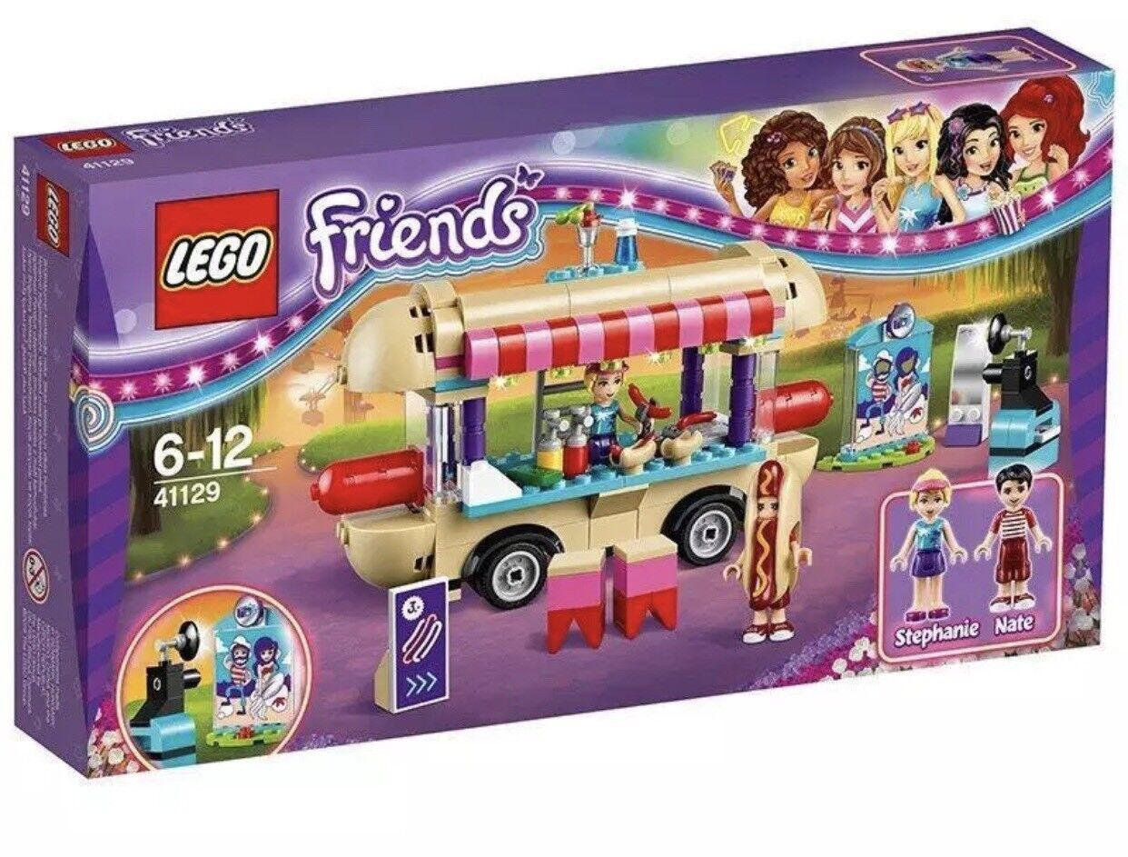 LEGO 41129 Friends Amusement Park Hot Dog Van Set - NEW & FACTORY SEALED