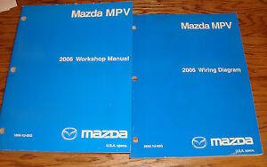 Original 2006 Mazda    MPV       Van       Shop       Service    Manual  Wiring    Diagram    Set 06   eBay