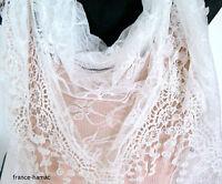 Écharpe Forme Triangle En Dentelle Unie Blanche Accessoire De Mode Femme