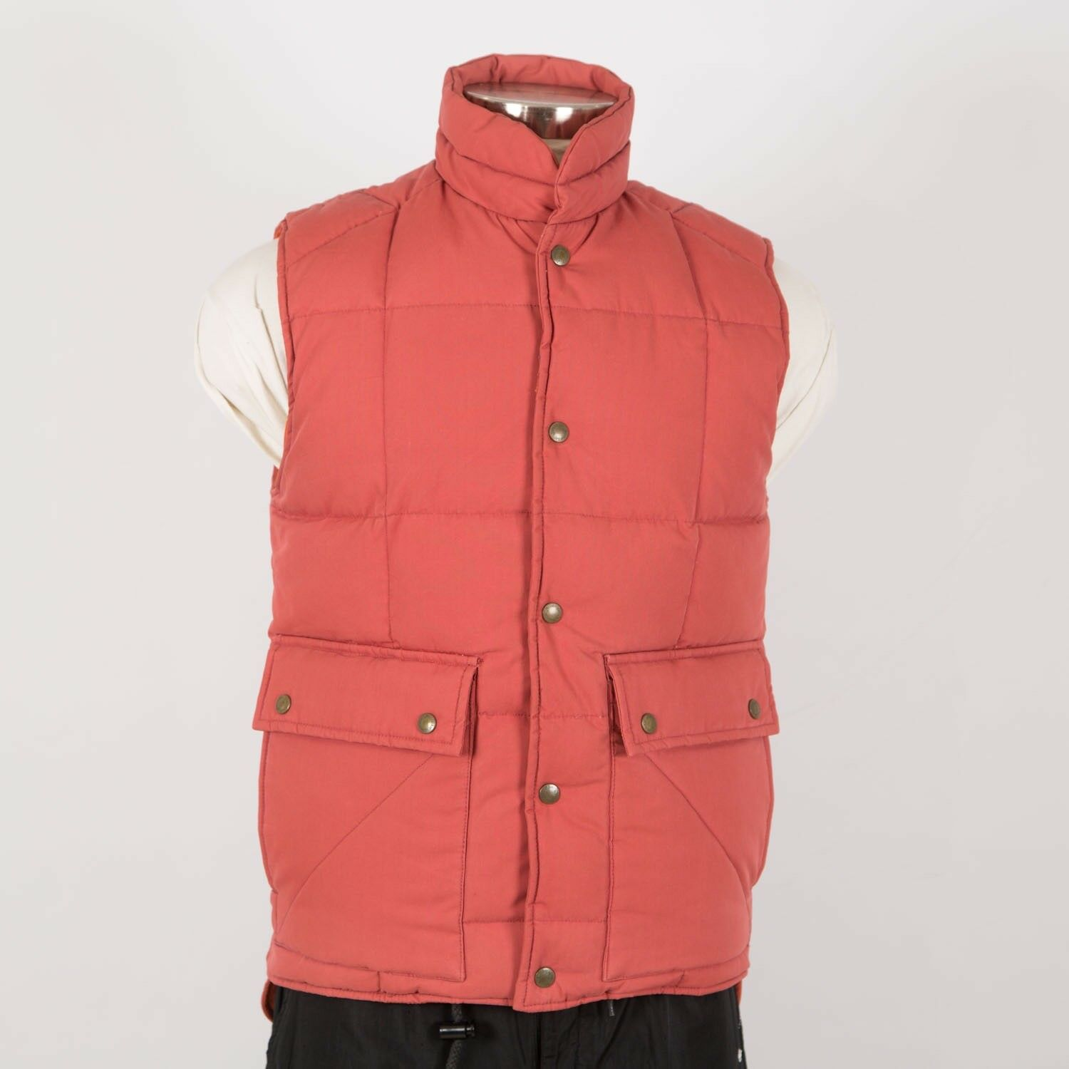 Mens Cold Weather Down Insulated Vest M Medium orange ST.JOHN'S BAY