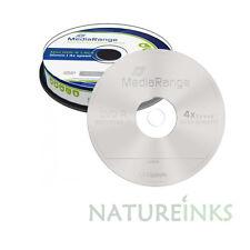 100 MediaRange 8cm 8 cm Blank Mini Discs DVD -R 1.4 GB 4x for Camcorder PC MR434