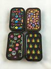 Assorted Design Hippie Leaf Peace Stash Tin Box Tobacco Cigarette Smoke