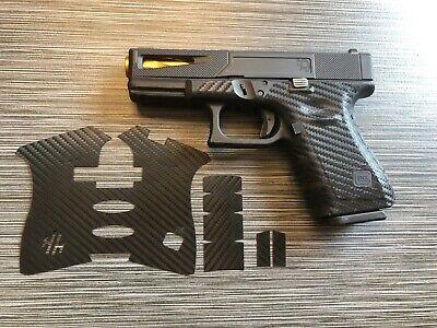 Handleitgrips Black Vinyl Carbon Fiber Gun Grip Wrap For