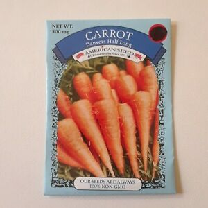 Carrot Danvers Half Long American Seed Non Gmo USA Vegetable Root Plant