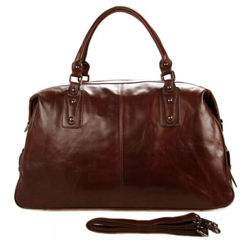 Fashion Men Genuine Leather Travel Bag Duffle Bag Luggage Messenger Bag Weekend