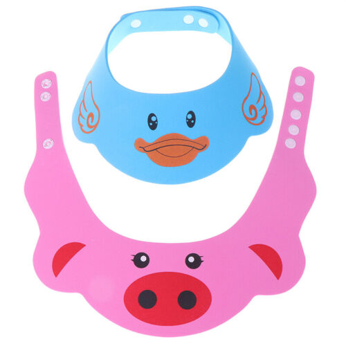 1Pc Cute Adjustable Baby Kids Cartoon Shampoo Bathing Shower Cap Hat Baby CareSS