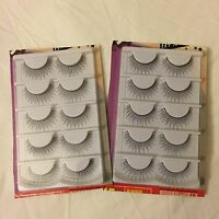 10 Pairs False Eyelashes Natural Style In Black Product Of Japan, Us Seller