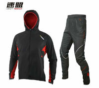 Sobike Cycling Suits Wind Rain Coat Jacket-wind Storm Pants Black Red Suits