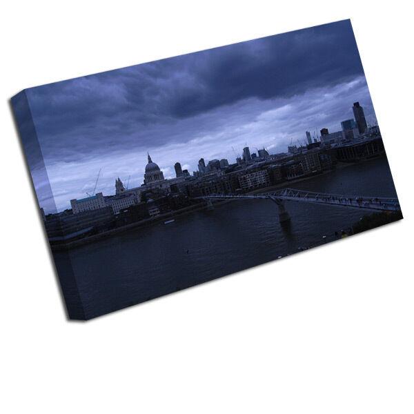 Le père Noël est avec vous tous les les tous jours. Londres Impression Toile Londres Pont Houses Of ParleHommes t Photo Artistique 194d0c