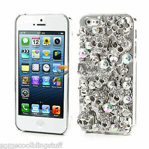 NEW-COOL-LUXURY-BLING-SILVER-SKULL-DIAMANTE-CASE-4-SAMSUNG-GALAXY-S3-S4-Mini-UK