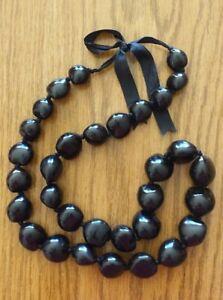 Hawaiian Natural Genuine Kukui Nut Necklace Nature Black color Hawaii Lei