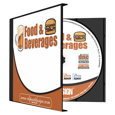 FOOD+DRINKS CLIPART-VINYL CUTTER PLOTTER IMAGES-EPS VECTOR CLIP ART CD