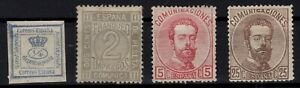 P133255-SPAIN-1872-MINT-MH-MNG-CLASSIC-LOT-CV-160