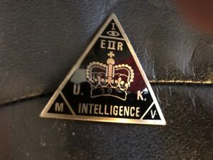 JAMES BOND 007 PROPS MI-6 BADGE ENGRAVED 0-0-7 UNDER CROWN MILITARY INTELLIGENCE