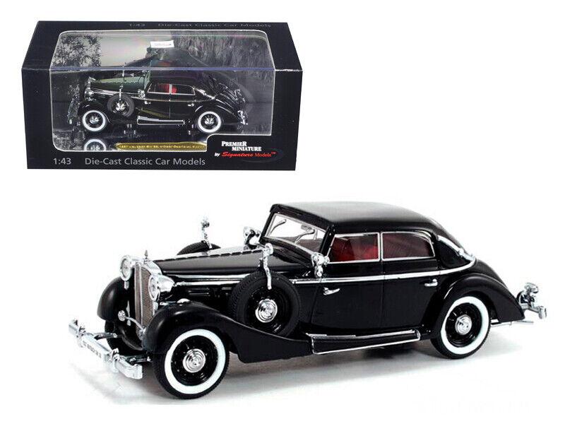 1937 Maybach SW38 Spohn 4 portes noir cabriolet 1 43 diecast modèle de voiture par SIGNE