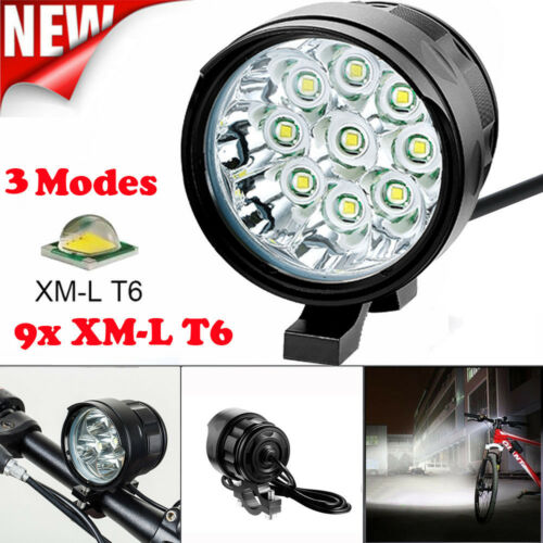 60000LM 16x XM-L T6 LED Bicycle Bike Headlight Head Lamp Torch Light Battery US