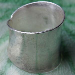 Handmade Ring Thai Karen Hilltribe Fine Silver Size US=8.5,UK=Q,Adjustable.