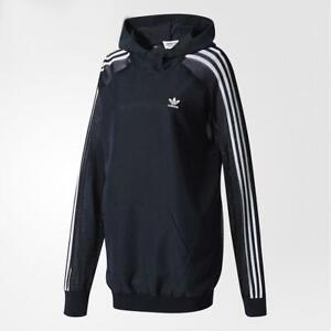 Colaborar con Correctamente infierno  Womens Adidas Hoodie 3 Stripe Long Sleeve Hoodie BR4512 | eBay