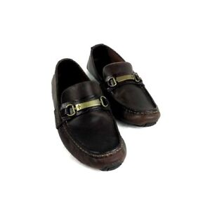 ad90884d81b Cole Haan C11396 Somerset Bit II Brown Leather Croc Moc Bit Loafer ...