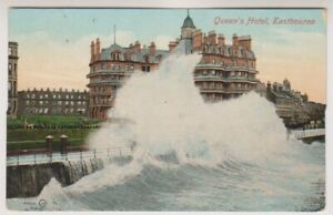 Sussex (East) postcard - Queen's Hotel, Eastbourne - P/U 1908 (A915)