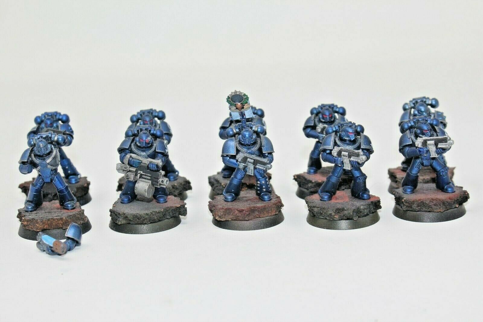 100% autentico Warhammer Warhammer Warhammer spazio Marines Mark IV Tactical Squad Well Painted - JYS55  fino al 42% di sconto
