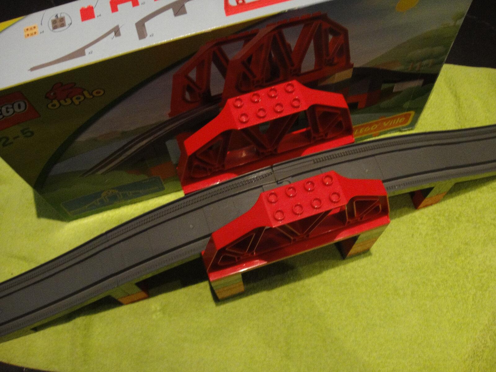 3774 Lego Duplo Brücke Rotes Geländer Grau XXL Eisenbahn  mit OVP komplett
