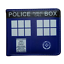 Doctor Who Blue Police Box Tardis Bad Wolf Leather Slim Wallet Card Holder Gift