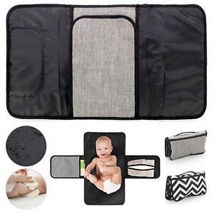 Portable Bag Waterproof Pad w// Pockets Babyway Travel Changing Mat Grey Stars