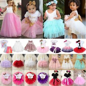 Mädchen Baby Kinder Prinzessin Hochzeit Festkleid Kommunion Party Abendkleider