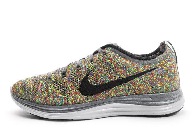New Men's Nike Flyknit Lunar 1 Multi Color size 13 554887 004