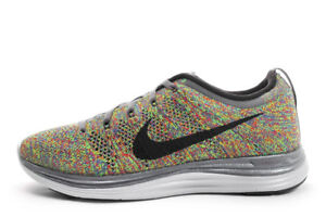 8932585a4b491 New Men s Nike Flyknit Lunar 1 Multi Color size 13 554887 004
