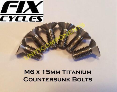 M6 X 15mm Titanio Tornillos Avellanados Allen Clave Enchufe Ti Super Light