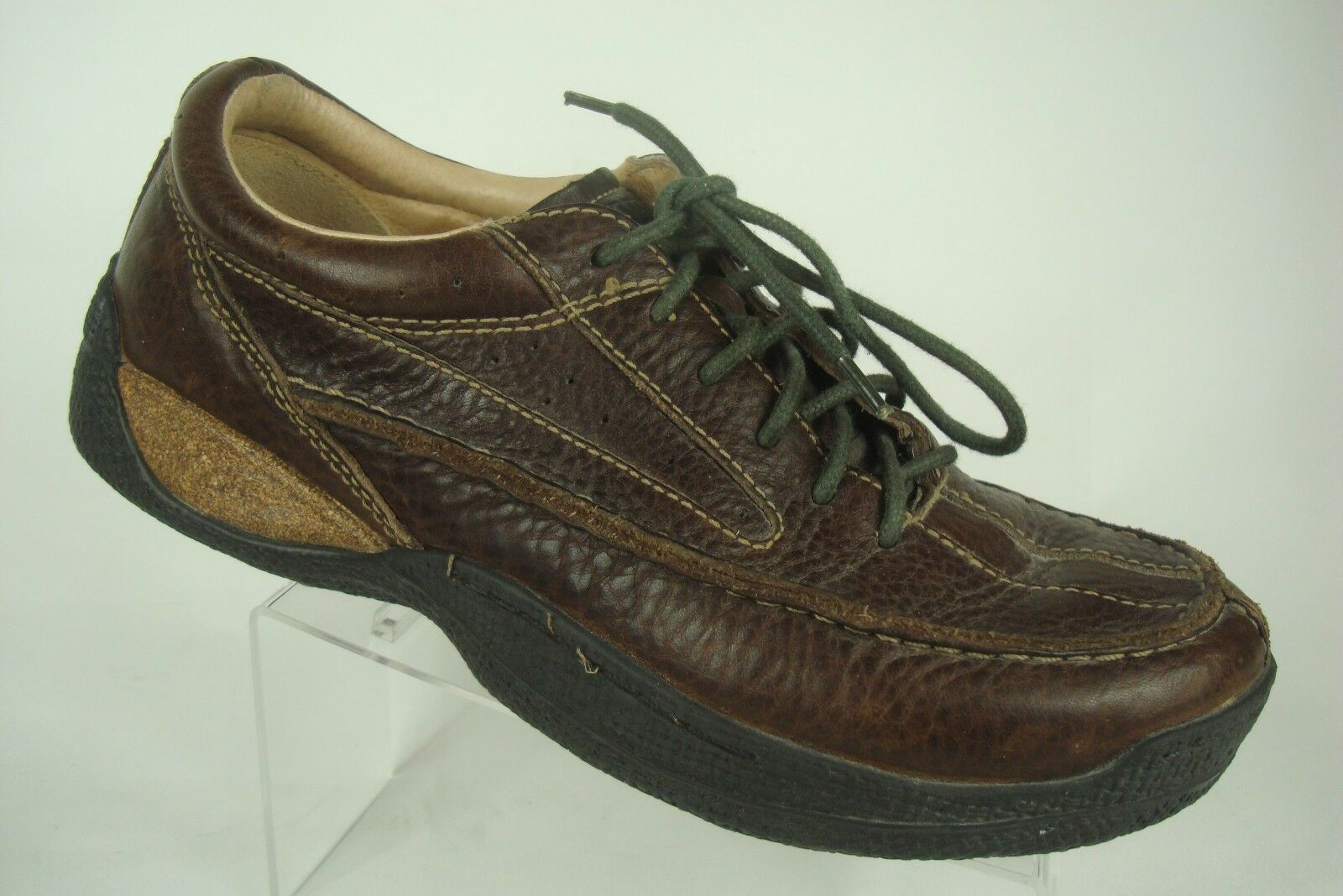 ROGUE mens Brown Leather Rustic Country Moc Moc Moc Oxford Hiking Trail Shoe 9 47778d