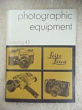 ORIGINAL 1972 E. LEITZ LEICA PHOTOGRAPHIC EQUIPMENT CATALOG NUMBER 45